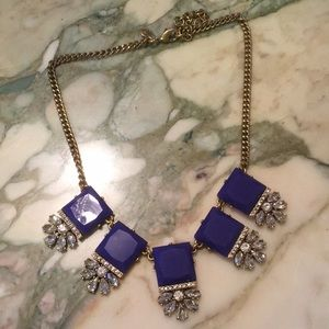 J. Crew Blue & Crystal statement necklace